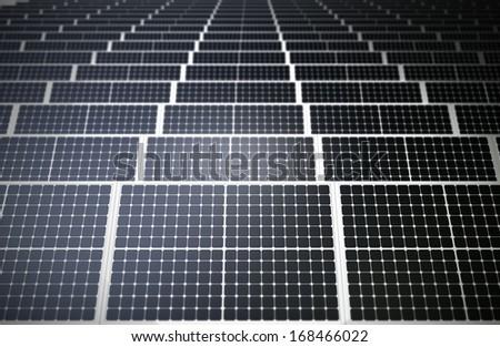 Solar farm concept - stock photo