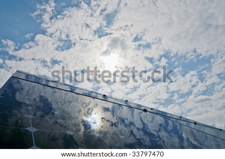 solar installation - stock photo