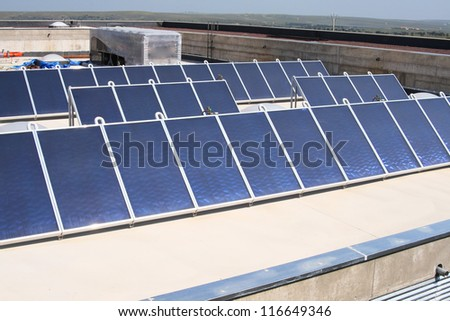 solar on the roof of a building for the hot water and electricity of the common areas