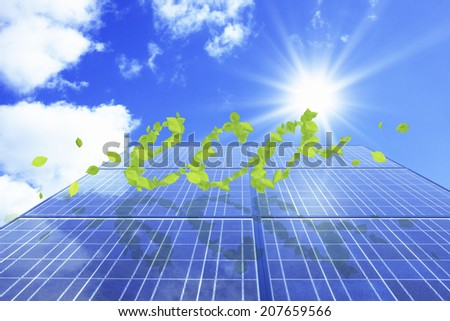 Solar Panel And Eco-Friendly Image - stock photo