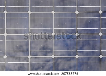 Solar panel closeup pattern abstract texture background.  - stock photo