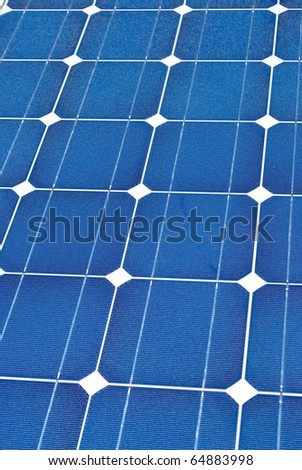 solar panel for electricity production
