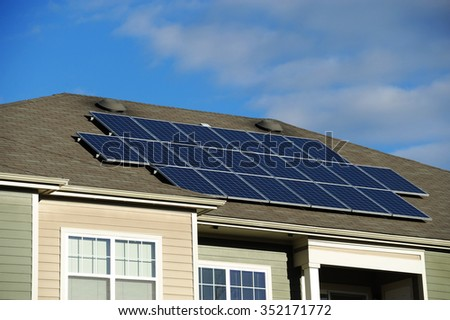 solar panel installed on apartment roof