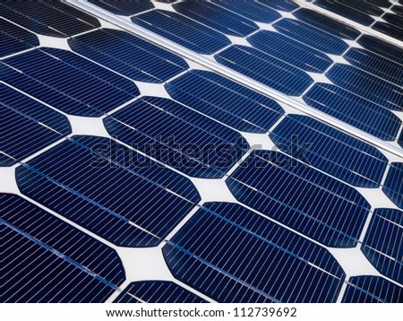 Solar panel is generating electricity to help against global warming - stock photo