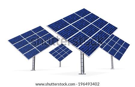 Solar Panel Isolated - stock photo