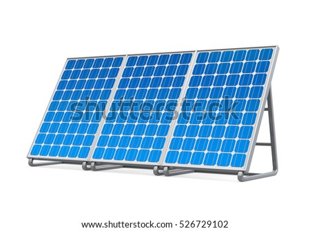 Solar Panel Isolated. 3D rendering