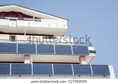 Solar panel on a new palace.