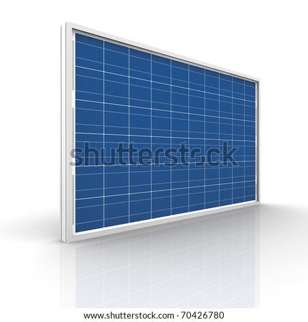 Solar panel on a white background. Green energy from the sun. - stock photo