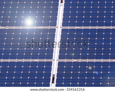 solar panel / solar energy - stock photo