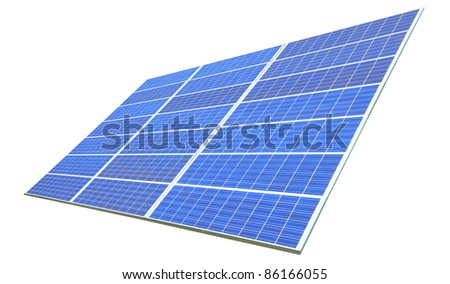 Solar Panel with white background - stock photo