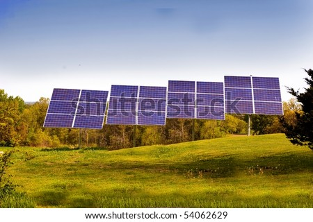 Solar panels on a home property