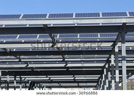 solar panels parking cover