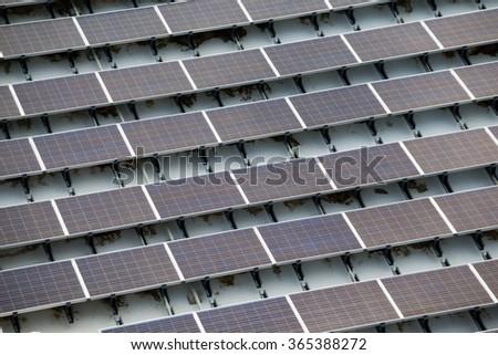 Solar panels plant - stock photo