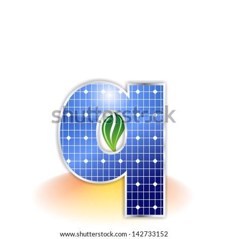 Solar Panels Texture Alphabet Capital Letter Stock