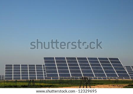 solar park - stock photo