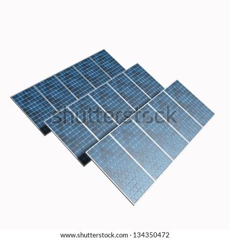 Solar photovoltaics panels for renewable energy production - stock photo
