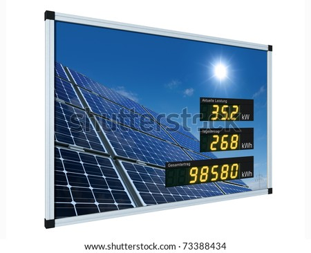 solar power display - german - stock photo