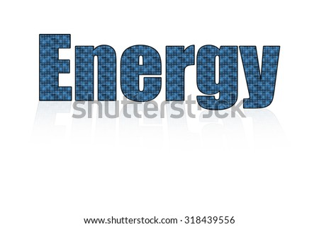 Solar  power energy alphabet idea concept  isolated background design
