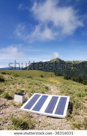 Solar power in high altitude mountain.