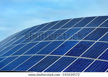 Solar power station  - stock photo