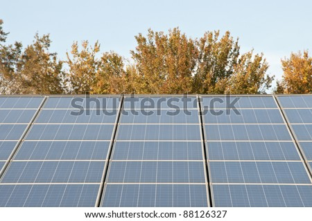 Solar Power Station in the Countryside - stock photo