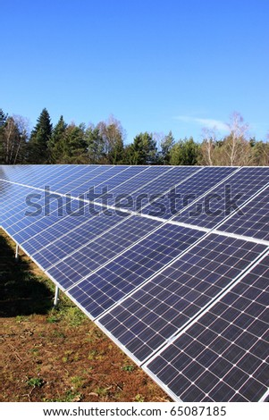 Solar Power Station in the green Nature