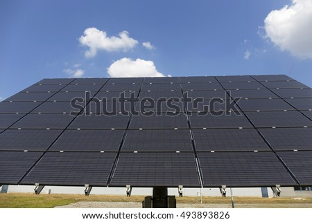 Solar Power Station on the summer Landscape