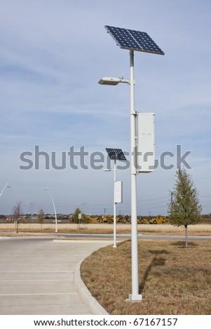 Solar powered lights - stock photo