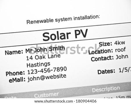 Solar PV - stock photo
