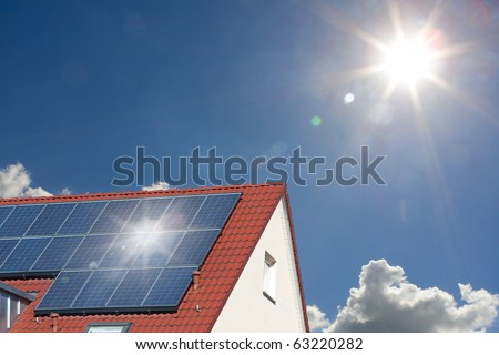 solar roof - stock photo