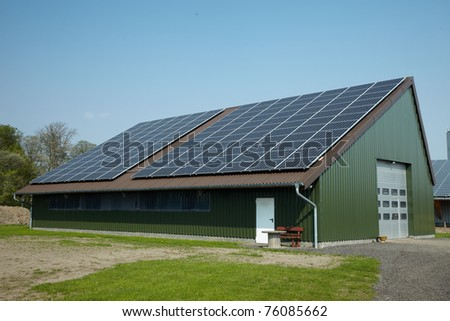 Solar Roof House - stock photo