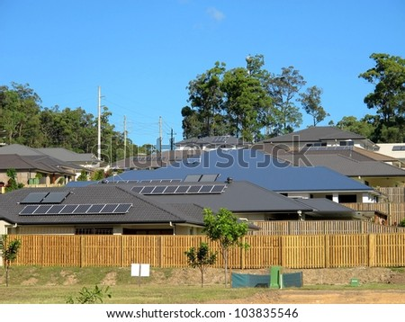 Solar Roof Panels 2 - stock photo