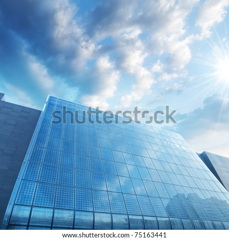 solar station in bright sunlight - stock photo