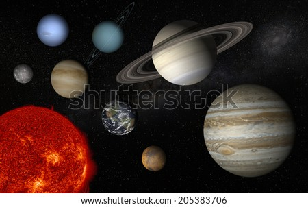 "Solar system  ""Elements of this image furnished by NASA"" - stock photo"
