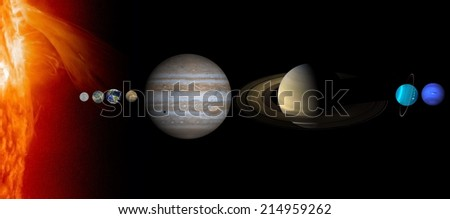 """Solar System """"Elements of this image furnished by NASA """"  - stock photo"""