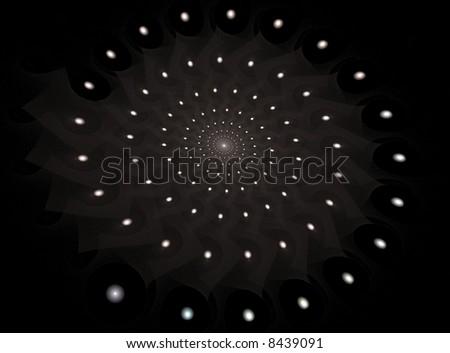 solar system fractal - stock photo