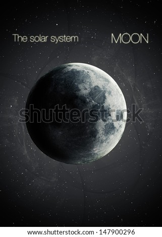 Solar System - Planet Moon. Elements of this image furnished by NASA - stock photo