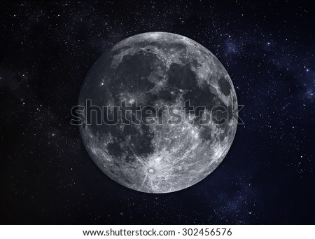 Solar System - Planet Moon. Elements of this image furnished by NASA