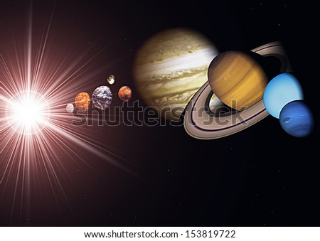 Solar system planets - stock photo