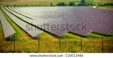 Solar thermal collector is a solar collector to collect heat by sunlight - stock photo