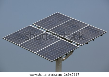 Solar-tracker power generating system.