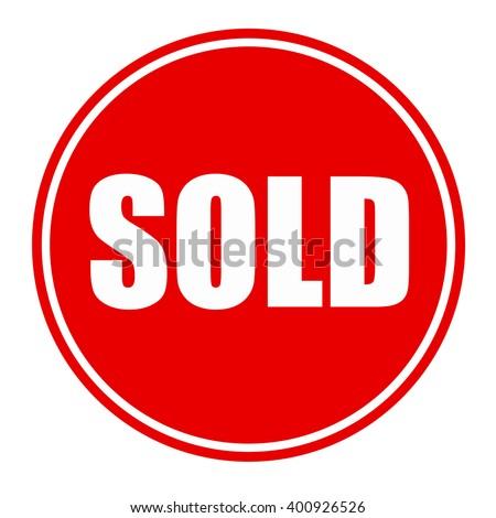 Sold logo - stock photo