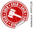 Sold sticker - stock vector