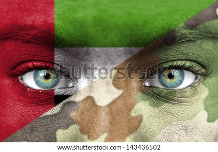 Soldier from United Arab Emirates - stock photo
