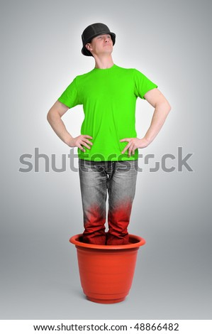 Soldier in pot - stock photo