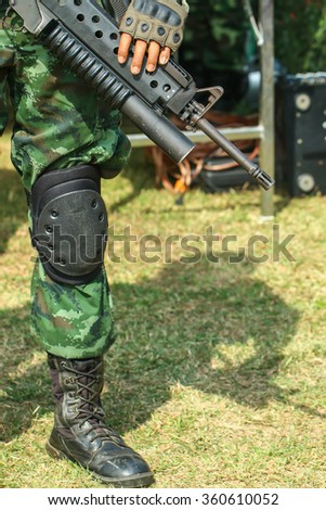 Soldier thailand ,soldier,army - stock photo