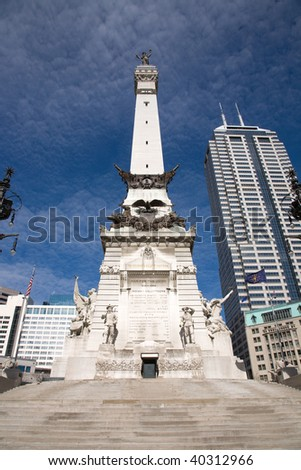 Soldiers and Sailors Monument Circle in downtown Indianapolis Indiana