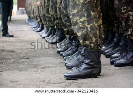 soldiers boots - stock photo
