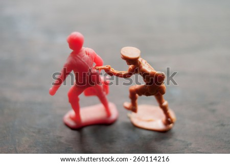 soldiers toy - stock photo