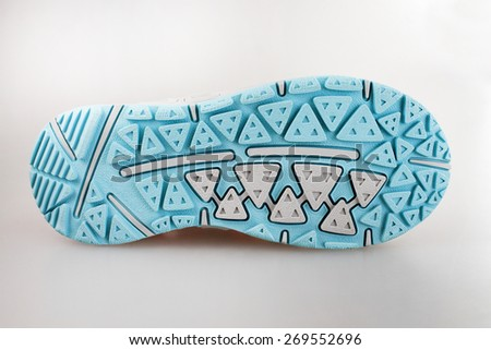 Sole of sport shoe - stock photo